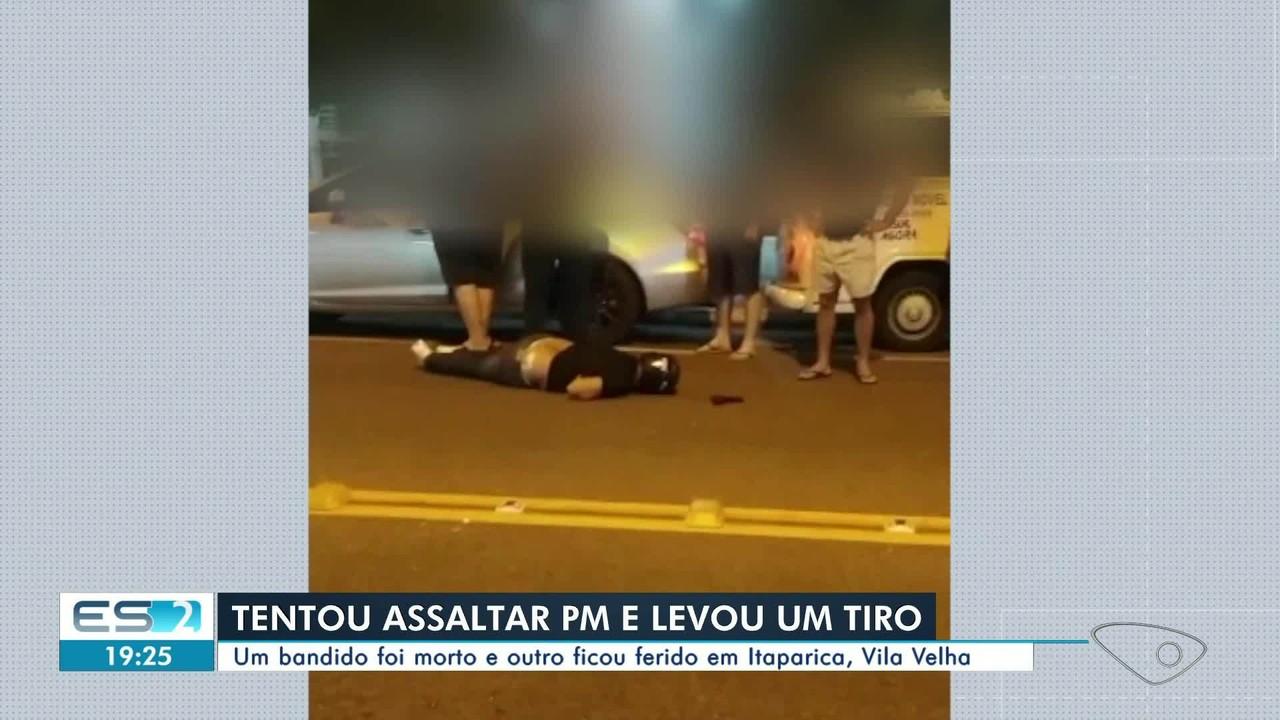 Homem é morto ao tentar assaltar policial em Vila Velha, ES