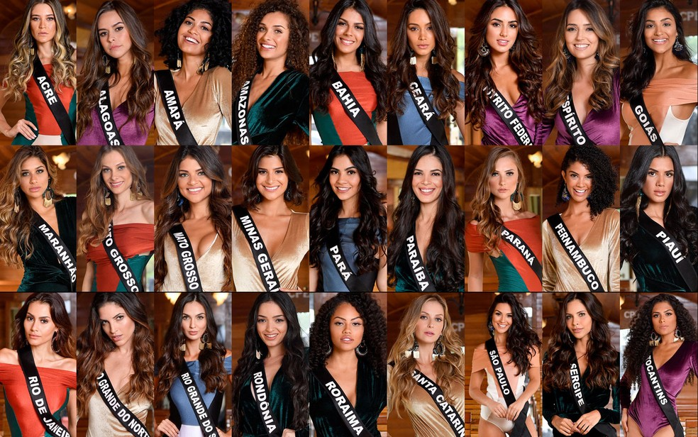 Veja as 27 candidatas do concurso Miss Brasil 2019 — Foto: Rodrigo Trevisan/Divulgação/Miss Brasil