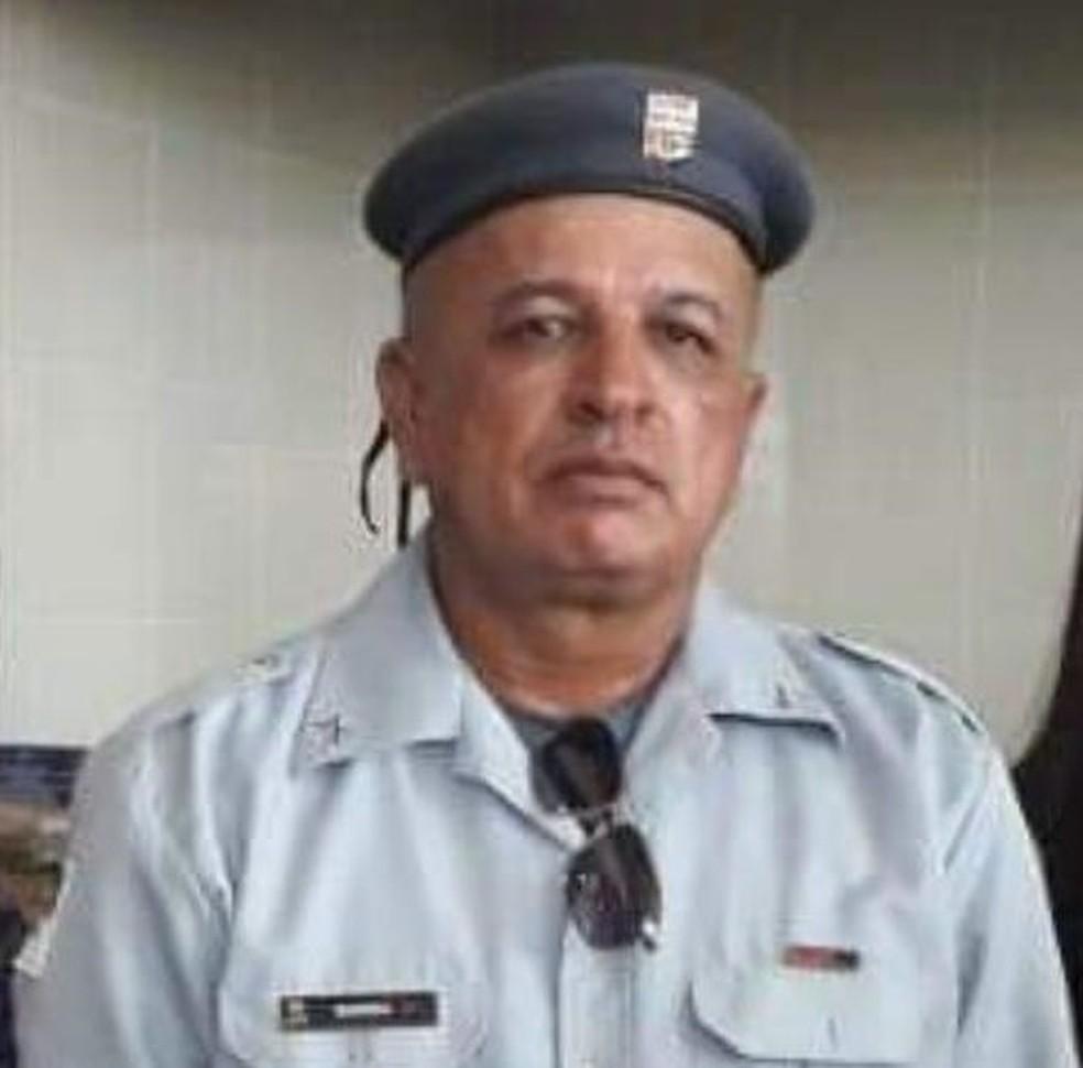 Sargento Barros, 52 anos, estava internado desde o dia 27 de junho — Foto: Cedida