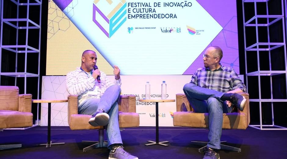 José Júnior, fundador do AfroReggae, durante o FICE 2018 (Foto: Alexandre Dipaula)