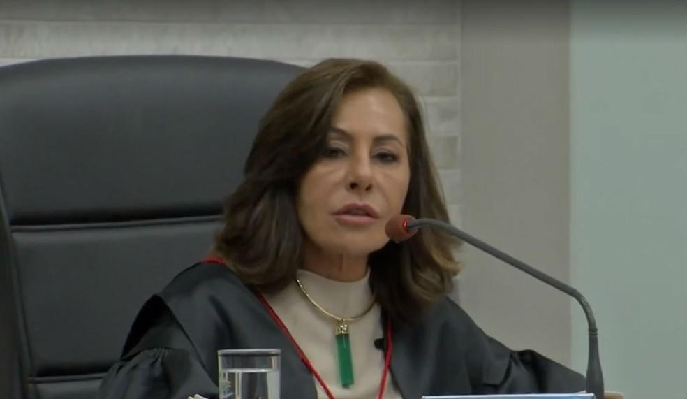 Tânia Garcia tem conduta investigada pelo CNJ e virou ré em ação por improbidade administrativa (Foto: Reprodução/TV Morena)