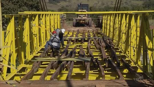 Reforma de ponte pênsil deve ficar pronta até o fim da semana em Turvolândia, MG
