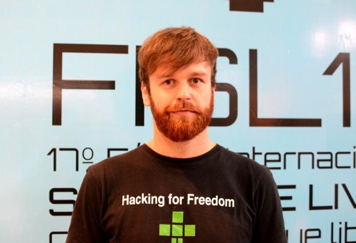 Torsten Grote no FISL17 (Foto: Giordano Tronco)