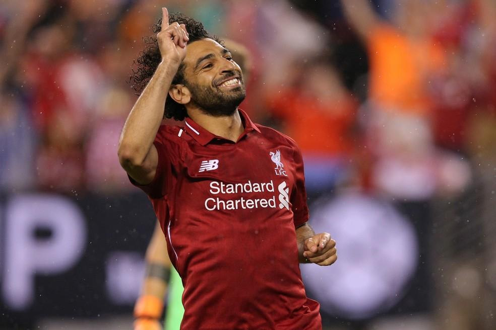 Salah disputará prêmio após temporada histórica com o Liverpool (Foto: REUTERS/Adam Hunger)