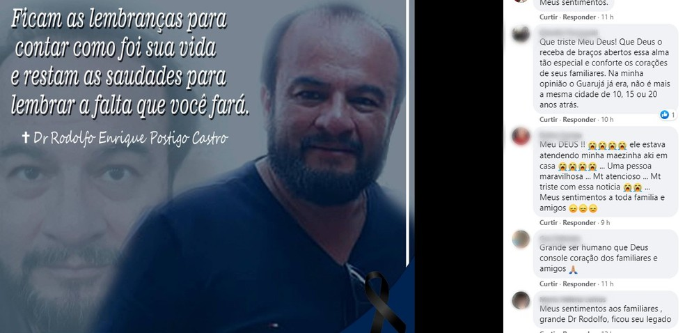 Morte de médico durante assalto causa comoção em Tatuí — Foto: Reprodução/Facebook