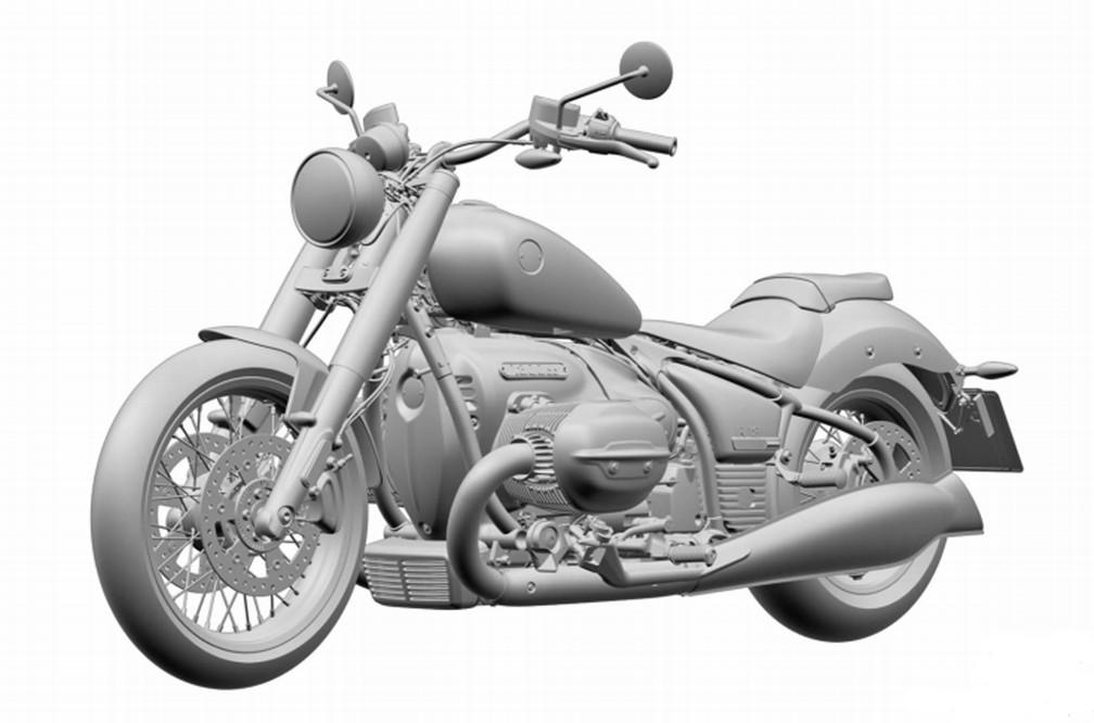 Futura moto BMW rival da Harley apareceu primeiro no Brasil — Foto: Inpi
