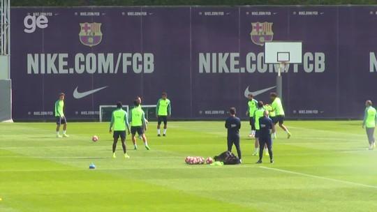 Messi volta a treinar após show; Suárez é vítima de fogo amigo e dá susto