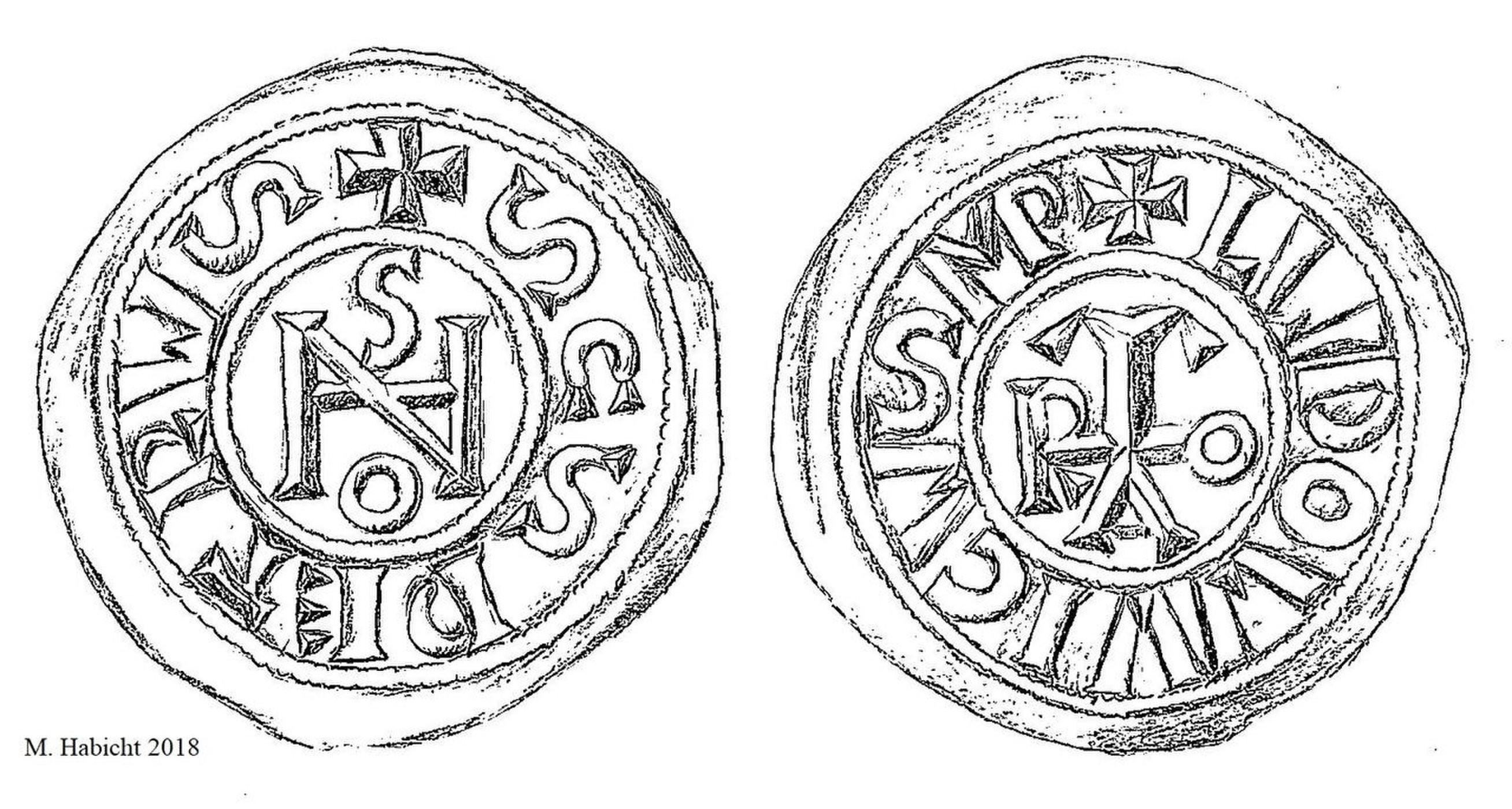Representação das moedas estudadas  (Foto: Michael Habicht)