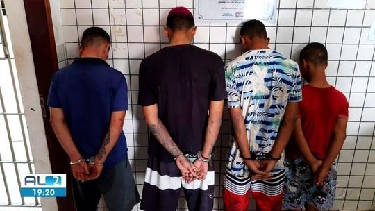 2 homens são presos e 2 menores apreendidos suspeitos de assaltos em São Miguel dos Campos