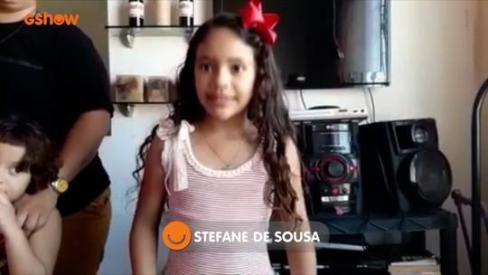 Stefane de Sousa tem torcida animada para a decisão do 'Mini Stars'