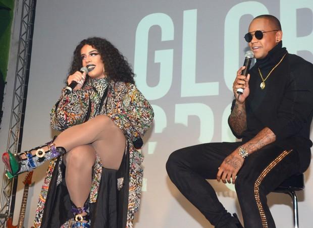 Gloria Groove e Léo Santana (Foto: Eduardo MartinsAgNews)