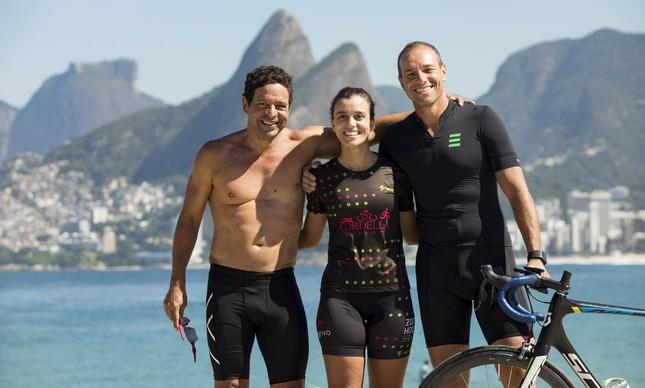 Beto Dolabella, Paula Vianna e Armando Barcellos: unidos pelo triatlo