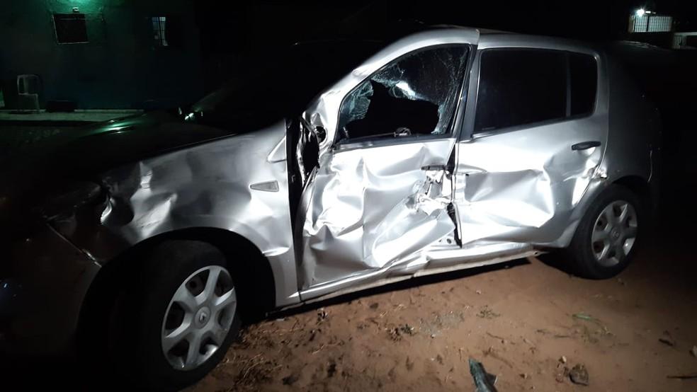 Acidente aconteceu na noite desta terça-feira (17) — Foto: Sérgio Henrique Santos/Inter TV Cabugi
