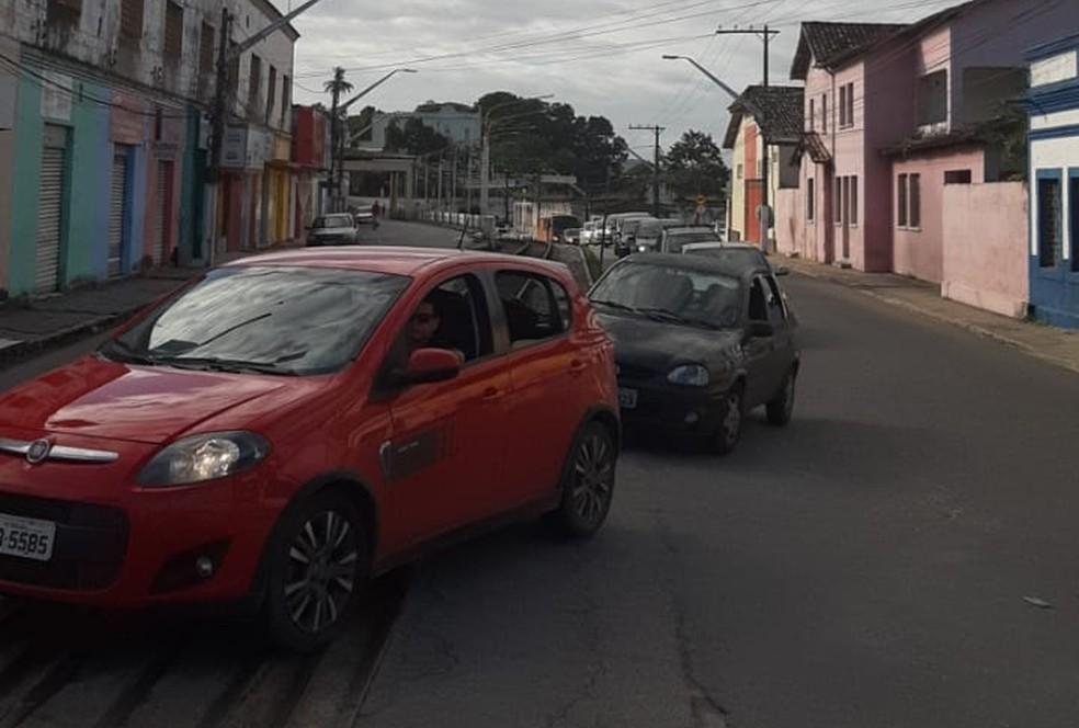 Realizaão de concurso público lota cidade de Rio Largo, Alagoas — Foto: Almir Custódio de Melo/Arquivo Pessoal