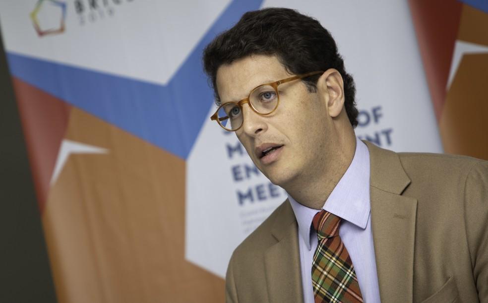 O ministro do meio ambiente, Ricardo Salles — Foto: Bruno Rocha / Fotoarena / Estadão Conteúdo