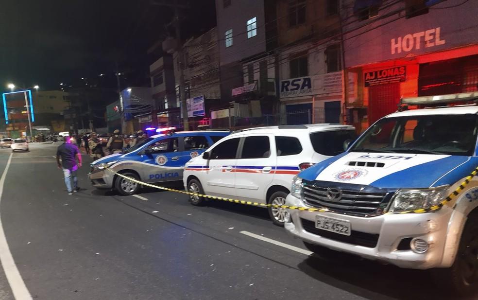 Taxista é morto a tiros na Avenida Barros Reis, em Salvador — Foto: Reprodução/Redes Sociais