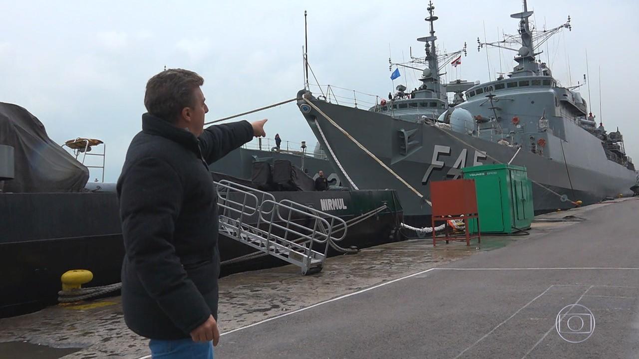 Caldeirão 20 anos: Luciano Huck acompanha marinheiros em missão de paz no Líbano