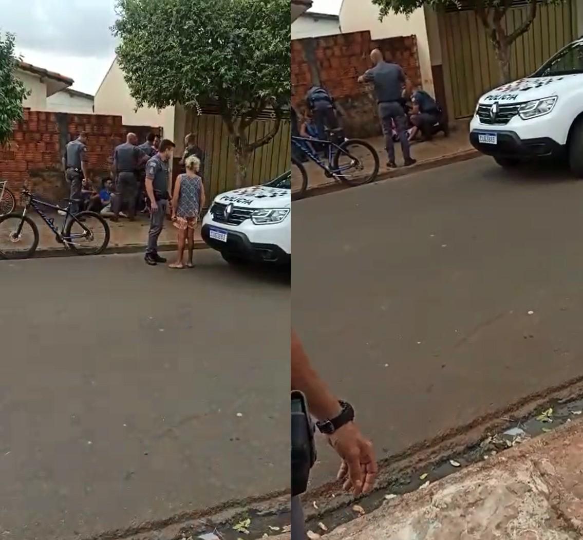 PM agride suspeito com tapa na cara durante abordagem policial em Paraguaçu Paulista; vídeo