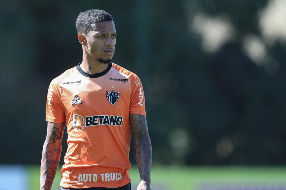 Tchê Tchê pode ser poupado por Cuca no jogo entre Atlético-MG e Corinthians — Foto: Pedro Souza / Atlético-MG