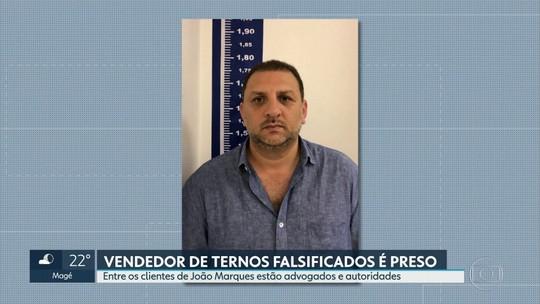 Polícia prende suspeito de vender ternos falsificados que tinha políticos como clientes: 'Esteve no Palácio Guanabara', diz delegado