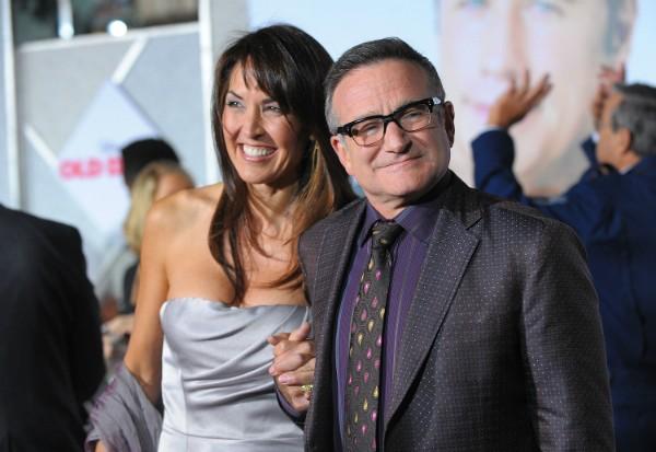 Susan Schneider e Robin Williams em evento em novembro de 2009 (Foto: Getty Images)