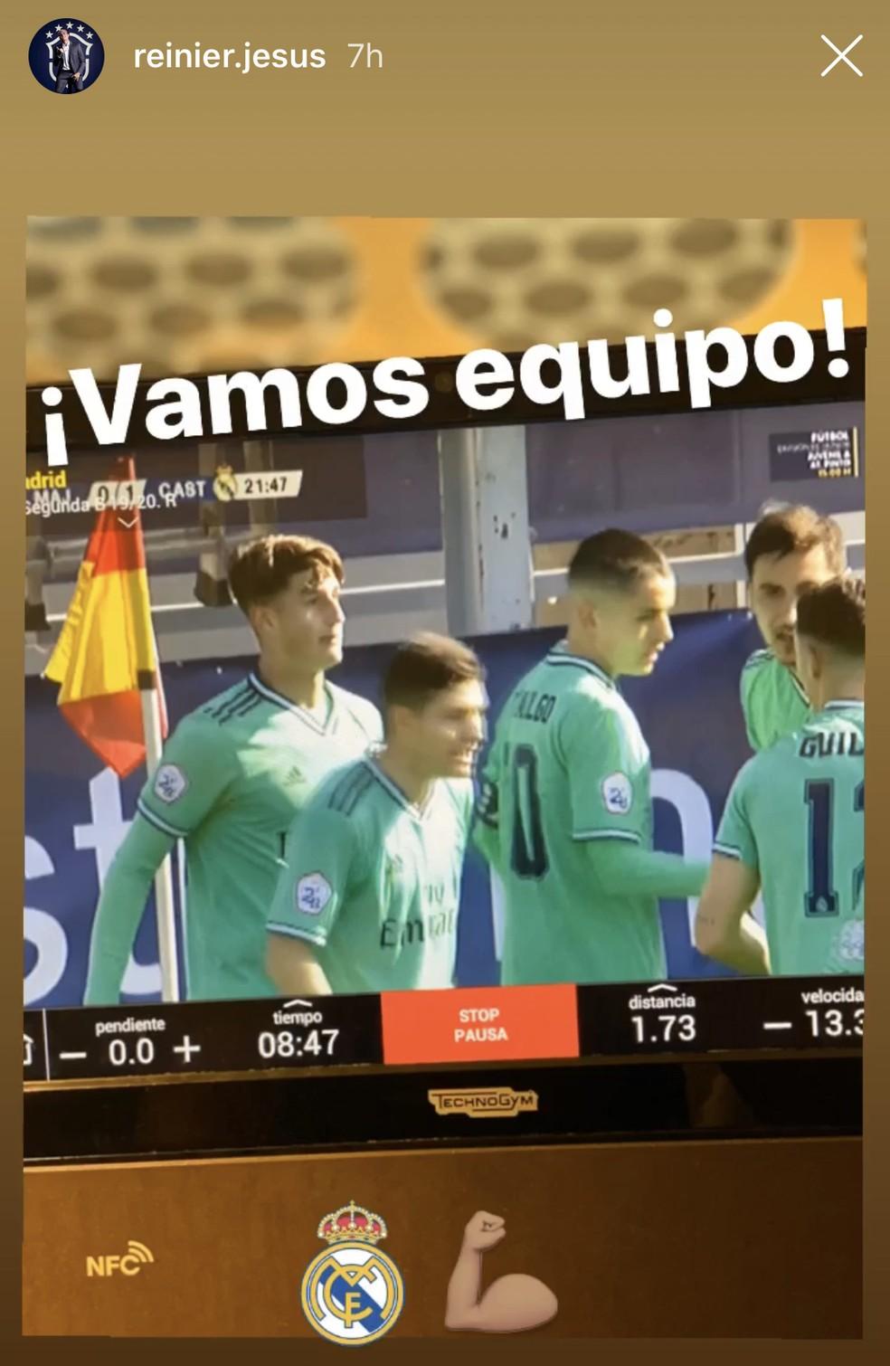 Reinier comemora gol do Castilla nas redes sociais — Foto: Reprodução/Instagram
