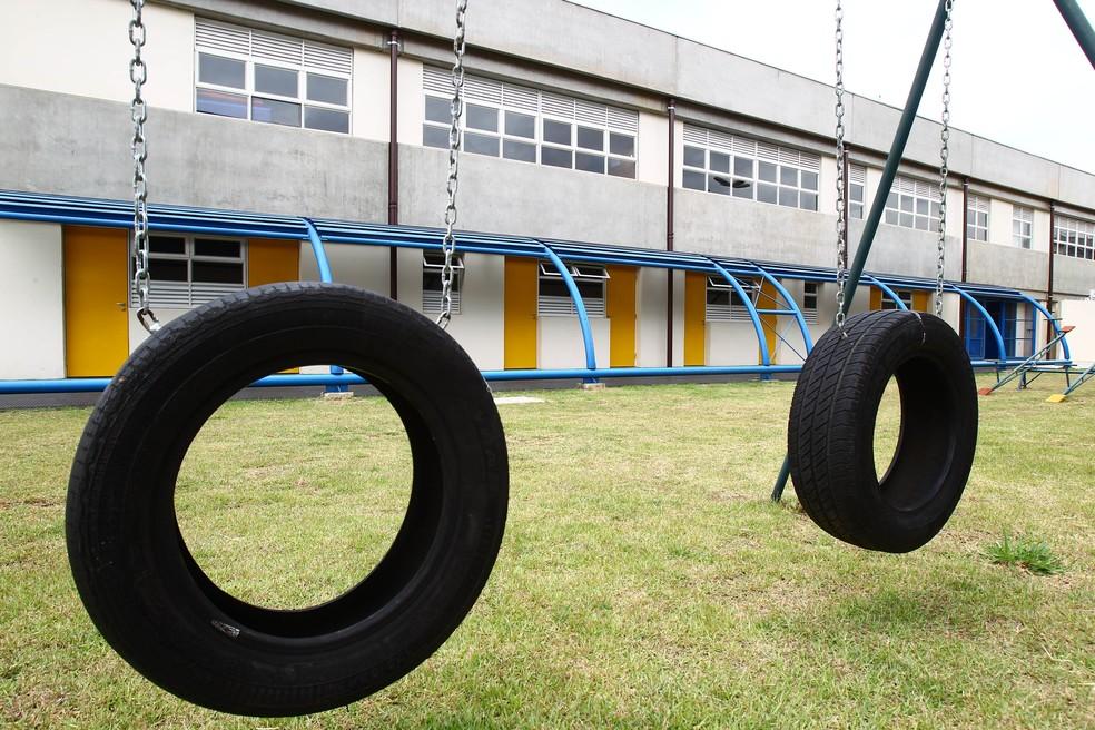 Foto mostra Centro de Educação Infantil (CEI) Ilha da Juventude, no bairro da Brasilândia, zona norte da capital paulista — Foto: Felipe Rau/Estadão Conteúdo
