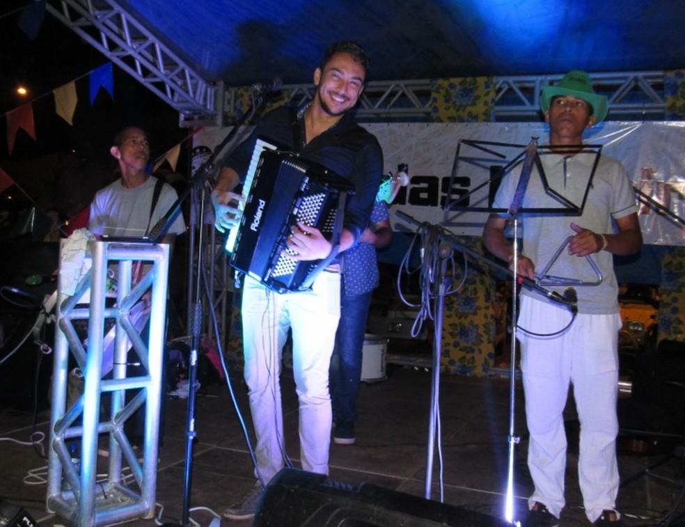 Felipe França foi um dos artistas do evento  (Foto: Ana Clara Marinho/TV Globo )