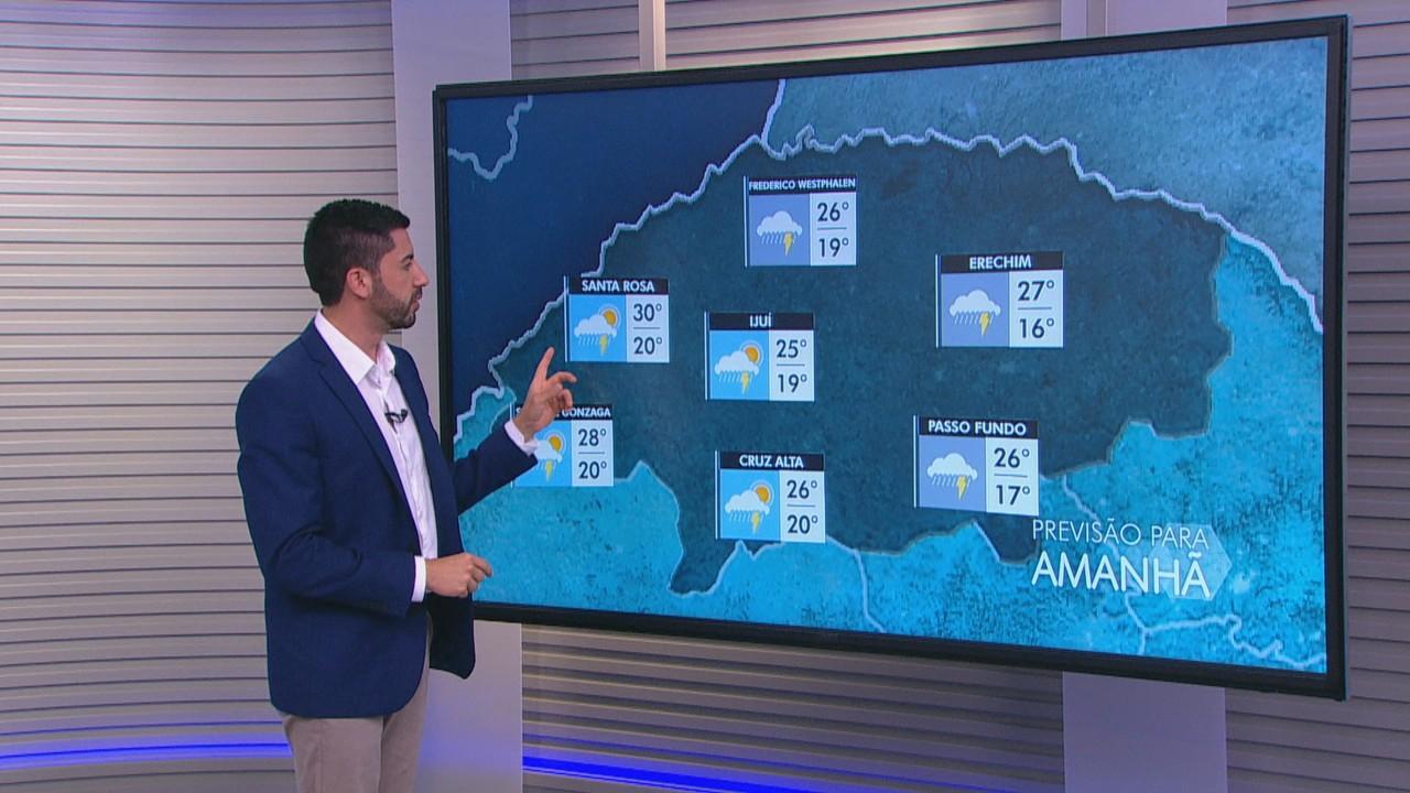 Quinta-feira (3) deve ser marcada por chuva forte e calor em algumas regiões do RS