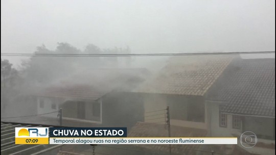 Domingo foi de chuva na Região Serrana e no noroeste do estado