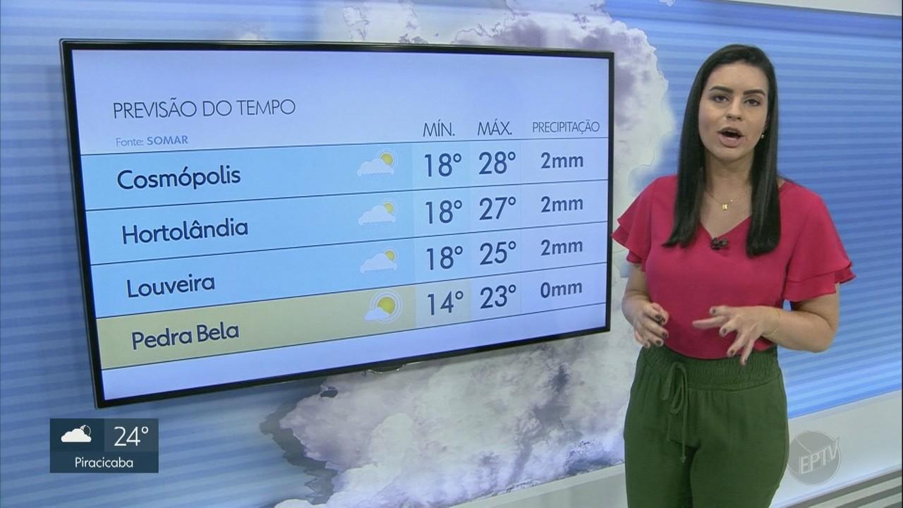 Região de Campinas tem chances de chuvas isoladas nesta terça-feira (13); veja previsão