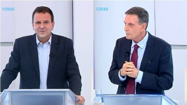 Debate entre Paes e Crivella na TV Band