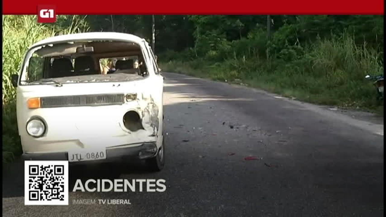 G1 em 1 minuto: Pará - Acidente entre moto e kombi deixa uma pessoa ferida na Ceasa