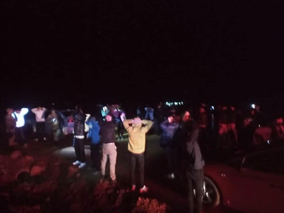 Fiscalização flagrou festa irregular em Xanxerê — Foto: Prefeitura de Xanxerê/Divulgação