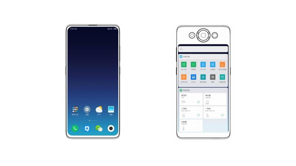 Xiaomi registra patente de celular com tela também na traseira — Foto: Reprodução/Escritório de Patentes da China