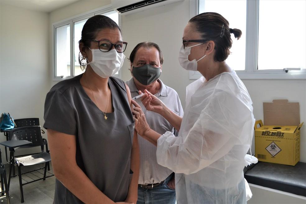 Avaré recebeu 1.400 doses da CoronaVac e já iniciou a vacinação — Foto: Prefeitura de Avaré/Divulgação