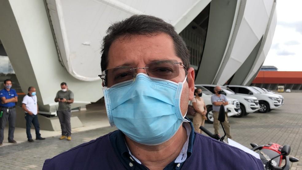 Secretário mostrou preocupação com provável terceira onda da doença no estado. — Foto: Matheus Castro/G1
