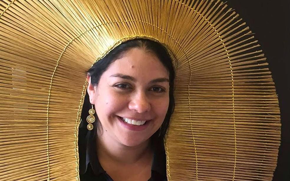 Fernanda Kaingáng, do Rio Grande do Sul, é primeira indígena a conquistas título de mestra em direito no Brasil (Foto: Fernanda Kaingáng/Arquivo pessoal)