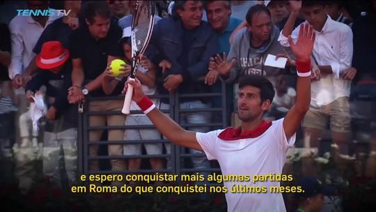 Djokovic tenta se recuperar em Roma