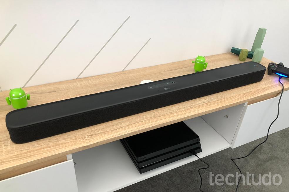 JBL Link Bar pode funcionar em conjunto com o Playstation (Foto: Nicolly Vimercate/TechTudo)