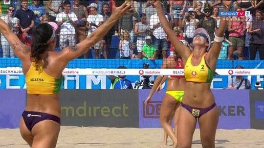 Brasil é ouro no Torneio dos Campeões de vôlei de praia feminino