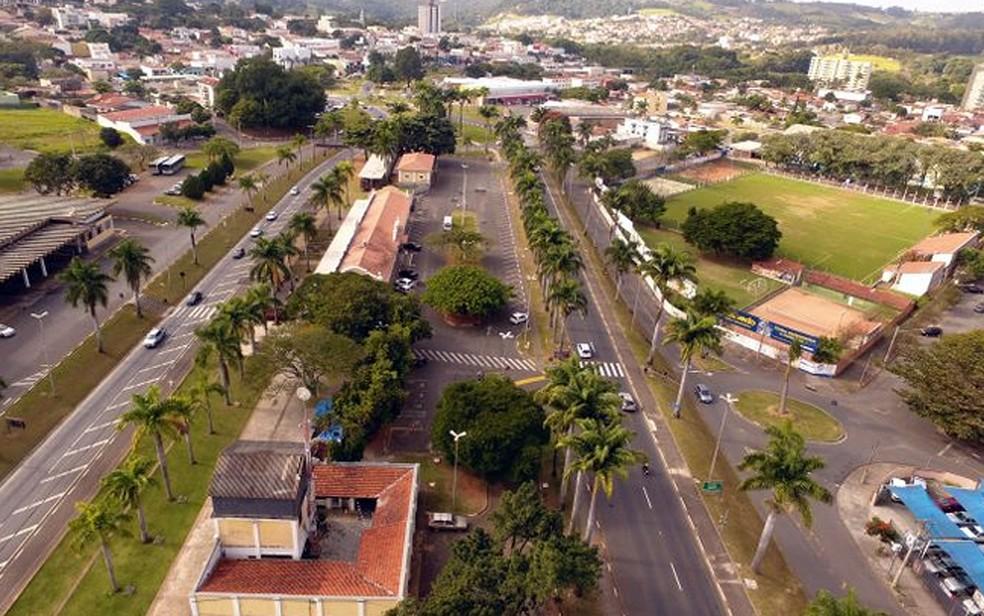 Vista aérea de Jaguariúna — Foto: Nivaldo Esperança (Drone)/Reprodução Prefeitura de Jaguariúna