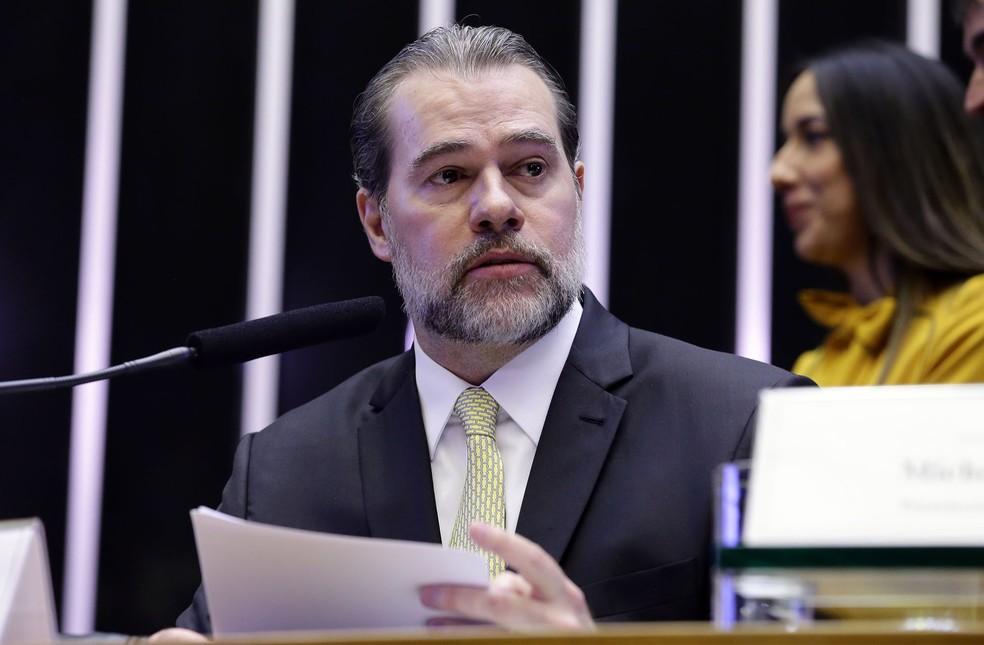 O presidente do Supremo Tribunal Federal (STF) ministro Dias Toffoli durante discurso na Câmara dos Deputados — Foto: Cleia Viana/Câmara dos Deputados
