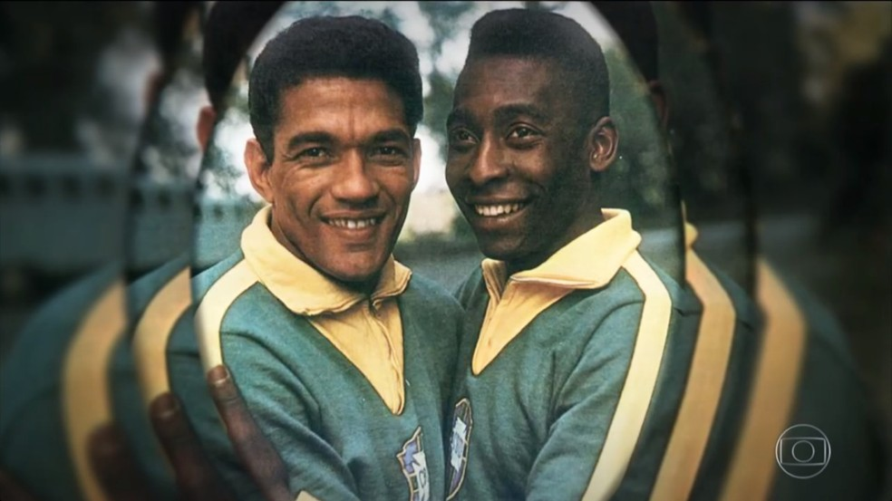 Com Garrincha e Pelé juntos, Seleção nunca foi derrotada (Foto: Reprodução TV Globo)