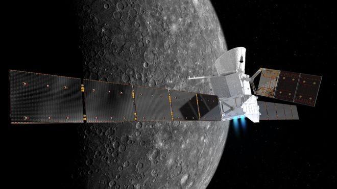 BepiColombo vai demorar sete anos para chegar a Mercúrio (Foto: ESA/ATG MEDIALAB/Via BBC News Brasil)