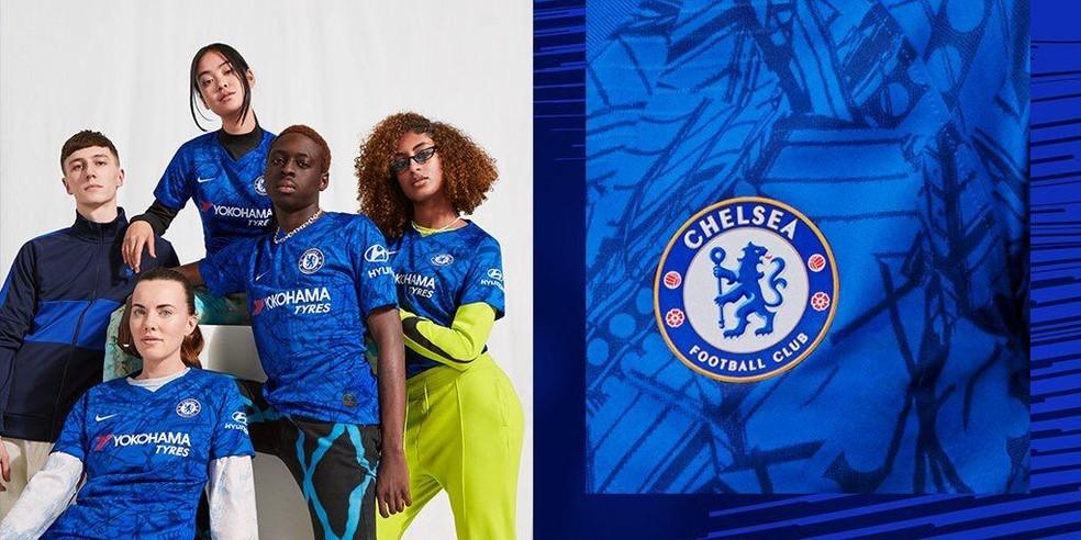 Novo uniforme Chelsea — Foto: Reprodução