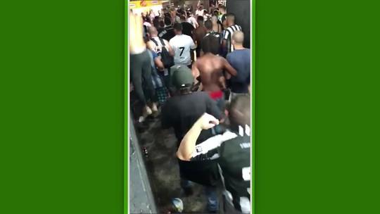 """Homem agredido em setor alvinegro é torcedor do Botafogo: """"Não sei como está vivo, foi milagre"""""""
