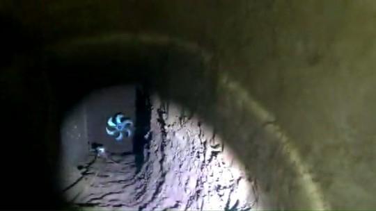 Presos cavaram túnel de oito metros na cadeia de Bandeirantes