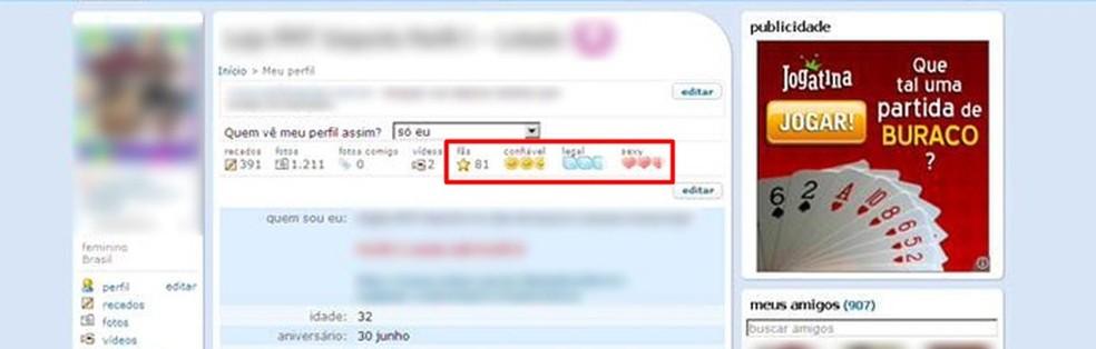 Legal, sexy ou confiável? Relembre avaliações do Orkut (Foto: Reprodução/Orkut)