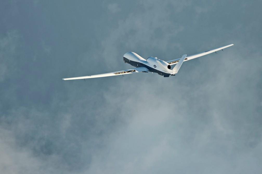 Modelo do drone dos EUA que foi derrubado pelo Irã perto do Estreito de Ormuz — Foto: Divulgação do exército dos EUA/Reuters